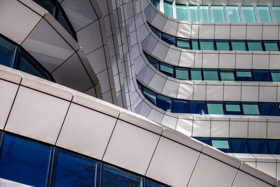 Details in the facade of modern architecture
